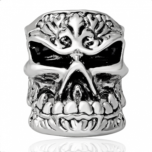 Tattoo Hip Hop Punk Monster Big Skull Adjustable Silver Bikers Rings Men Jewelry for Party