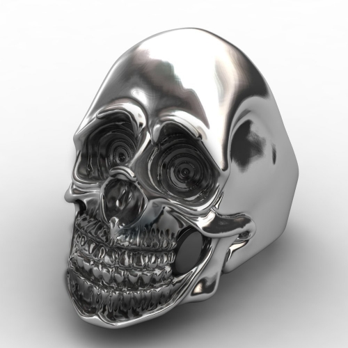 EVBEA Size 8-11 Personality Men's Retro Skull Ring Biker Jewelry Titanium Steel Rings With European Style For Happy New Year