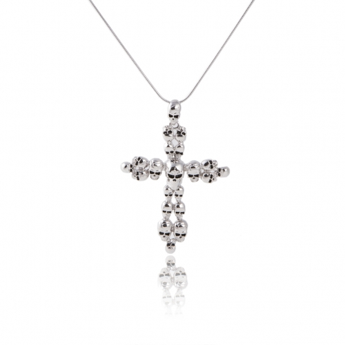 Party Skull Crucifix Punk Cross Necklace Long Choker for Men's Imported Female Accessories