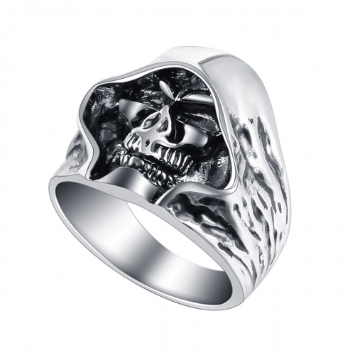 Graduation 2016 Biker's Motocycle Metal Hell Death Skull Ring for Men and Women Adjustable Size Punk Jewelry Accessoires
